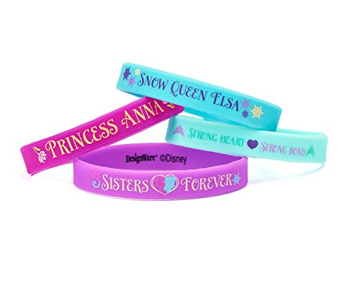 Frozen Rubber Bracelets, 4 Count, Party Supplies