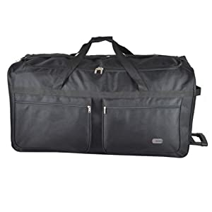 The Mammoth Extra Large 40 223 Litre Capacity Wheeled Holdall With Zip Away Trolley Handle And 3 Wheels For Added Stability