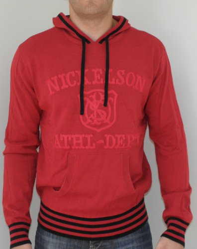Nickelson Mens Brookie NMW300 Overhead Hoody Red Large