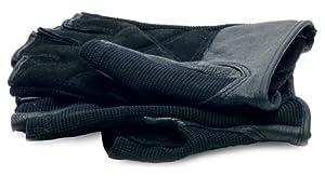 RoadPro 504896L Men's Black X-Large Padded Palm Fingerless Leather Glove