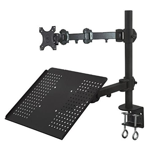 EZM Notebook/Monitor Extension Arm Mount Stand Desktop Clamp(002-0013) Notebook Arm Desk