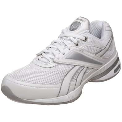Reebok Women's EasyTone Reeinspire Walking Shoe,White/Silver,5 D US