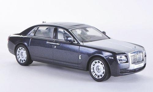 Rolls Royce Ghost EWB, anthrazit/silber, LHD , 2010, Modellauto, Fertigmodell, Kyosho 1:43