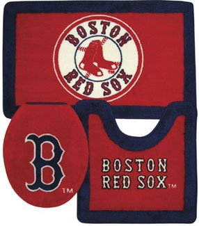 Boston Red Sox Bathroom Rug Set
