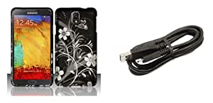 Samsung Galaxy Note 3 - Accessory Combo - Silver Meadow Butterfly