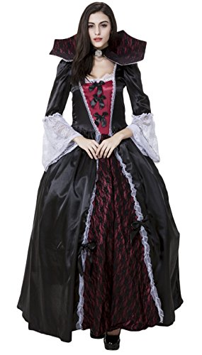 JustinCostume Women's Halloween Gothic Vampire Witch Cosplay Costumes