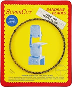 "SuperCut B124H12T3 Hawc Pro Resaw Bandsaw Blades, 124"" Long - 1/2"" Width; 3 Tooth; 0.025"" Thickness"