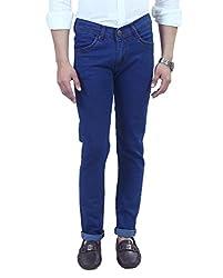 Manq Blue Slim Fit Jeans