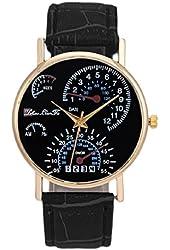 Men's Leather Band Analog Quartz Business Wrist Watch