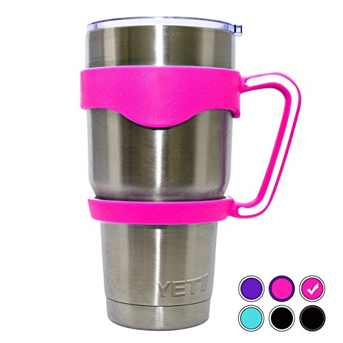 Pink Color Handle for YETI Cup 30 oz Ozark Trail RTIC SIC and Other 30 oz Tumblers. CHILLOUT LIFE Anti-Slip Handle Yeti Cup BPA-free. (Hot Pink Handle Only)