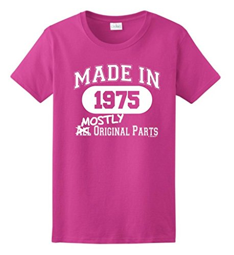 Made 1975 40Th Birthday Gift Mostly Original Parts Ladies T-Shirt X-Large Heliconia