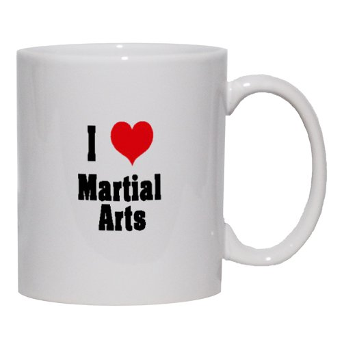 I Love/Heart Martial Arts Mug for Coffee / Hot Beverage (choice of sizes and colors)