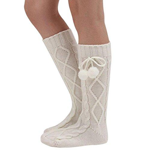 Oksale Women Winter Crochet Knitted Wool Boot Socks Leg Warmers (White) (Rain Boot Short Socks compare prices)