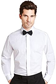 Satin Stripe Evening Dress Shirt