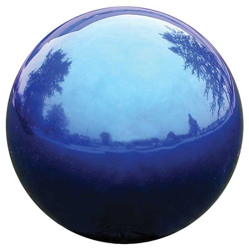 VCS  BLU12 Mirror Ball 12 inch Blue Stainless Steel Gazing Globe