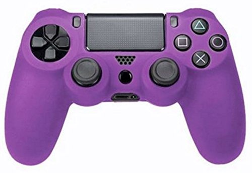 SlickBlue Flexible Silicone Protective Skin Case For Sony PS4 Game Controller - Purple [PlayStation 4] (Color: Purple)