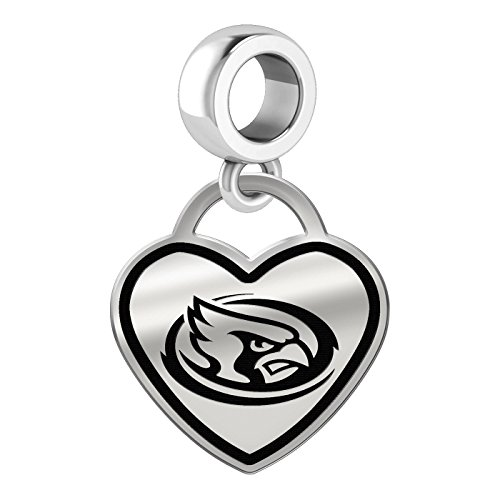 Iowa State Cyclones Border Heart Dangle Charm Fits All Beaded Charm Bracelets