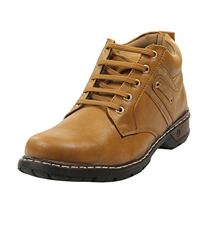 Adammo Men's Tan Synthetic Leather Ankle Length Boots
