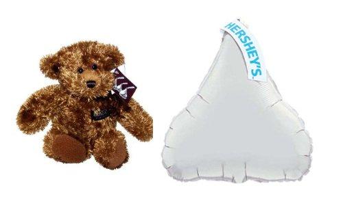 Hershey Plush Bear  Hershey Kiss Mylar Balloon