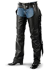 Interstate Leather Women's Fringe Chap (XX-Large)