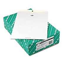 Quality Park Clasp Envelopes, 10 x 13 - Inches, 28lb, White Wove, Box of 100 (38397)