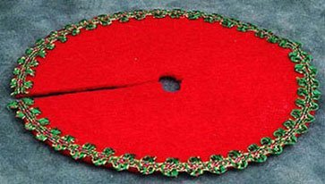 Dollhouse Red Xmas Tree Skirt - 1