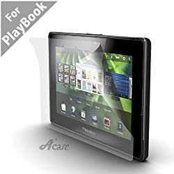 Acase(TM) BlackBerry Playbook AcaseView Screen Protector Film Clear (Invisible) for Blackberry Playbook 7-Inch Tablet - Wifi 16GB, 32GB, 64GB (3-Pack) NEWEST MODEL