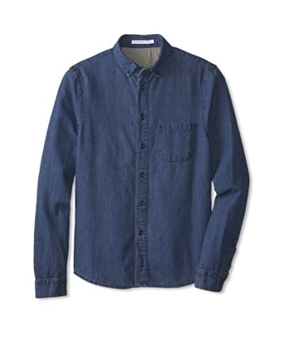 Alternative Men's Chambray Long Sleeve Button Up