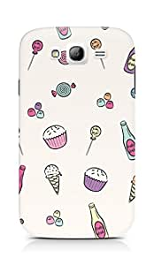 AMEZ designer printed 3d premium high quality back case cover for Samsung Galaxy Grand i9082 (girly candy collage)