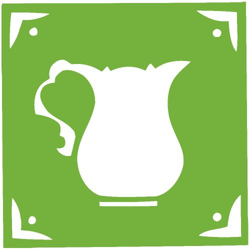 Cofee Tea Pot Kettle Decal Sticker (Lime, 5 Inch)