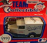 Los Angeles Dodgers 1991 Matchbox MLB Diecast Ford Model A Truck White Rose Collectible Toy Car 1:64 Scale