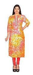NARANGI ORANGE RAYON KURTI Girls/Women in XXL Size