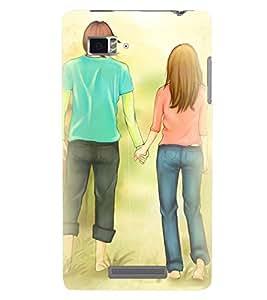 Printvisa Premium Back Cover Love Couple Walking On The Grass Design For Lenovo Vibe Z K910