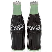 Coca-Cola Ceramic Salt & Pepper Shakers - Shaped Like Coke Bottles