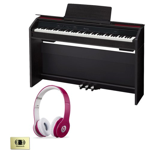 Casio Privia Px-850 88-Key Digital Piano Bundle With Beats By Dr. Dre Solo Hd On-Ear Headphones (Bubble Gum Pink) And Custom Designed Zorro Sounds Instrument Cloth