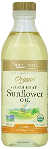 Spectrum Naturals Organic Refined Sunflower Oil, High Heat, 16 oz