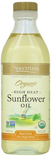 Spectrum Naturals Organic Refined Sunflower Oil, High Heat, 16 oz