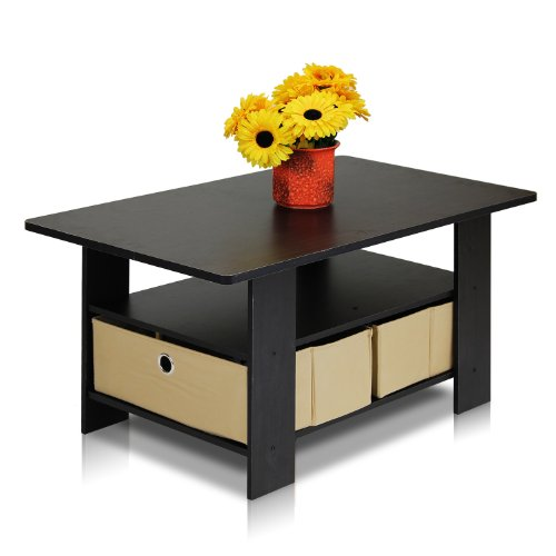 Furinno 11158EX/BR (99976E) Espresso Living Set, Coffee Table