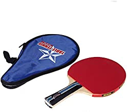 Long Handle Table Tennis Racket Ping Pong Paddle  Waterproof Bag Pouch Blue