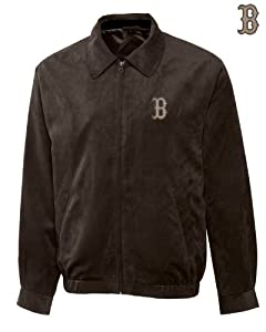 Boston Red Sox Mens Micro Suede City Bomber Jacket by Cutter & Buck