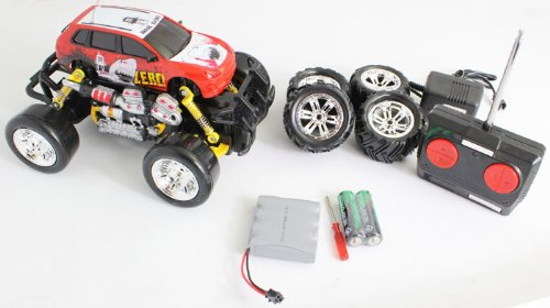 Extreme Monster Drifting Truck 4x4 High Quality (Red) Porsche Cayenne 1:18 Electric RTR Rc Truck, Remote Control Monster Truck with Extra Grip Tires and Rechargeable Batteries