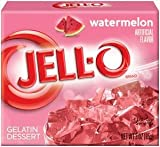 Jell-O Gelatin Dessert, Watermelon, 3-Ounce Boxes (Pack of 4)