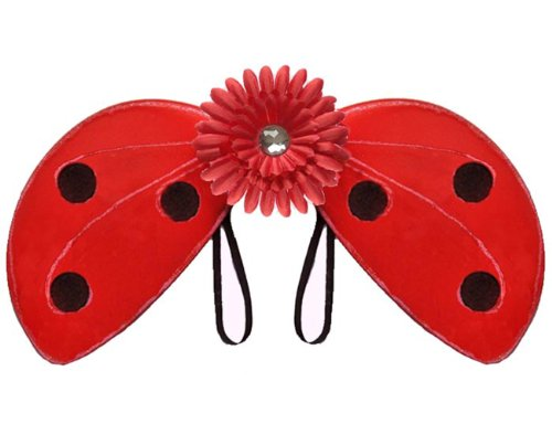 Red Nylon Ladybug Wings Shimmer Girl Birthday Party Halloween Costume Lady Bug