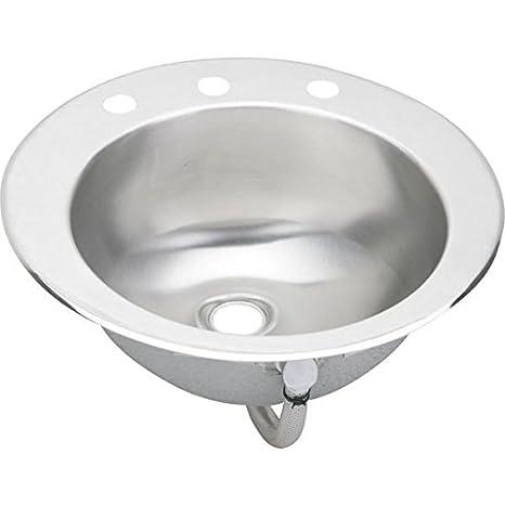 Elkay LLVR19CS3   Asana Lustertone Stainless Steel 19-Inch Single Basin Top-Mount Bathroom Sink