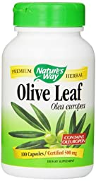 Nature\'s Way Olive Leaf, 100 Capsule, 500 mg