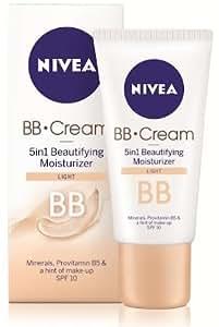 nivea bb cream 5 in 1 beautifying moisturizer spf 10 light tone european import. Black Bedroom Furniture Sets. Home Design Ideas