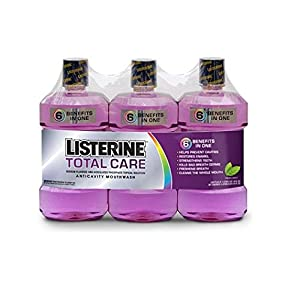 Listerine Total Care Anticavity Mouthwash Fresh Mint Flavor 1 L Bottle