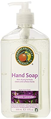 Earth Friendly Products Hand Soap, 17 Ounce Bottle (Pack of 6)
