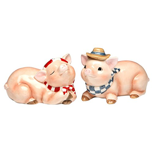 Appletree Design Barn Yard Pig Salt and Pepper Set, 2-Inch, 2-1/8-Inch