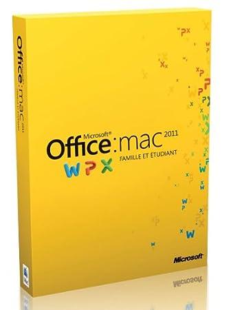 Office Mac Famille et Etudiant 2011, 1 poste